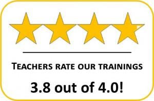Teachers Rate Trainings - 4 Starts